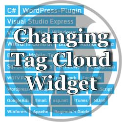 wordpress modifying parameters for tag- loud-widget thumbnail