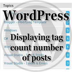 wordpress-tag cloud displaying count number of posts for each tag humbnail