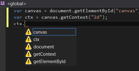 Visual Studio IntelliSense Canvas Context Detection Problem