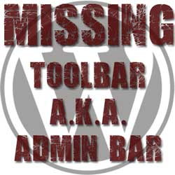 Wordpress missing admin bar or toolbar thumbnail