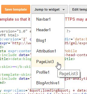 blogger edit template jump to widget