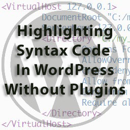WordPress highlighting syntax code without plugins
