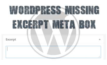 wordpress-missing-excerpt