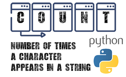 python - count number of characters in a string