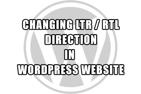 wordpress - changing rtl and ltr language direction