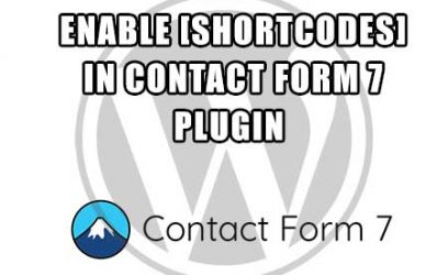 wordpress - make shortcodes work in contact form 7 plugin