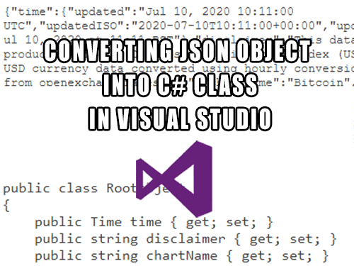 Visual Studio - how to create model class from JSON object in one single step