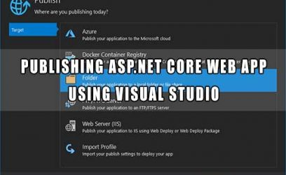 Visual Studio - publishing ASP.NET Core Web App in local folder